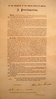 Leland-Boker Authorized Edition of the Emancipation Proclamation, printed in June 1864 with a presidential signature