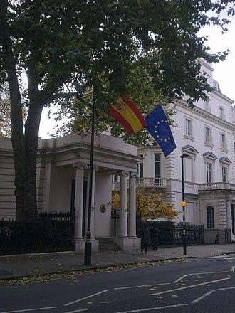 Embassy of Spain, London - Image: Embassy of Spain in London 2