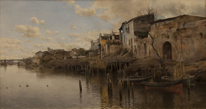 File:Emilio Sánchez Perrier (1855-1907) - Triana (1889) - Sevilla Bellas Artes 22-03-2011 11-22-06.jpg