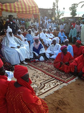 Hausa people - The Emir of Muri Alhaji Abbas Tafida and his vizier.