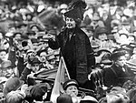 Emmeline Pankhurst addresses crowd.jpg