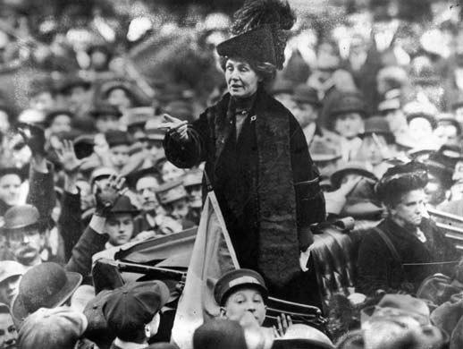 Emmeline Pankhurst addresses crowd