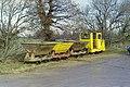 Empty train at Cherry Orchard Lane brickworks, 1989 (geograph 4848158).jpg