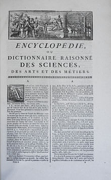 encyclopedie 18eme siecle definition