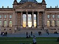 Entrance of the Reichstag with sun in it 2.jpg