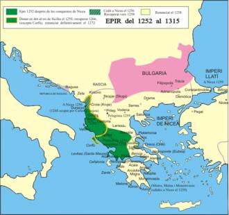 Despotate of Epirus - The despotate of Epirus from 1252 to 1315
