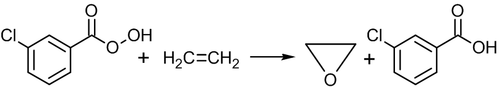Oxidation of ethylene by peroxy acids