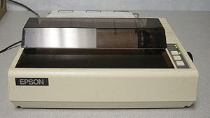Dot matrix printing - An Epson MX-80, a classic model that remained in use for many years