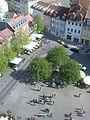 Erfurt, Wenigemarkt von oben, Frühjahr 2012.JPG