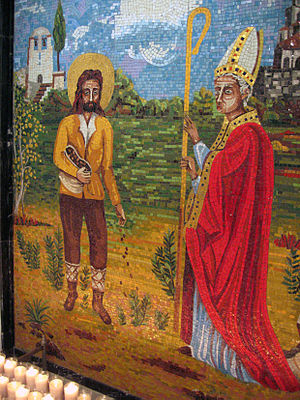 Severus of Barcelona - Severus and Emeterius (Medir).  The miracle of the fields.  Hermitage of Sant Medir, Sant Cugat