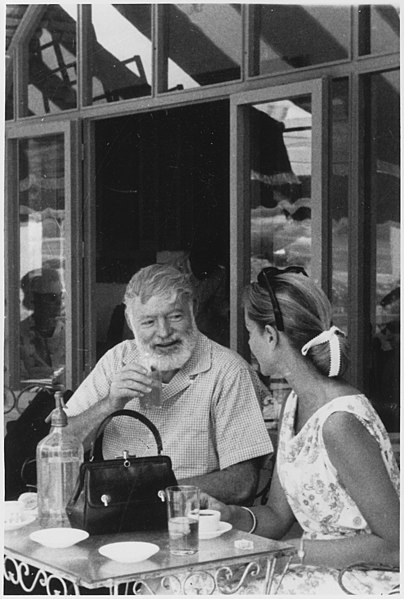 File:Ernest Hemingway with Lauren Bacall in Spain - NARA - 192696.jpg
