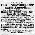 Ernst Rieckers Anzeige für Auswanderer nach Amerka.jpg