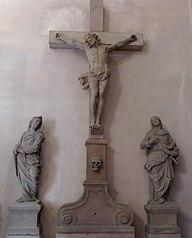 Le Christ en croix entre la Vierge et Saint-Jean