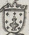 Escudo da Galiza na Hispaniae Descriptio de Vincenzo Luchini (1559).jpg