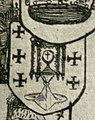 Escudo da Galiza na Nova Carte del muy Podroso Reyno d'Espania de Pieter Verbiest (1629).jpg
