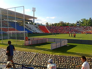 Estadio Malvinas Argentinas - View from the southern stands.