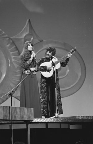 "Eurovision Song Contest 1971 - The Netherlands' Saskia & Serge finished 6th with their entry ""Tijd""."