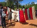 Exposition de tissus en soie naturelle de Fonohasina Ambohidrabiby.JPG
