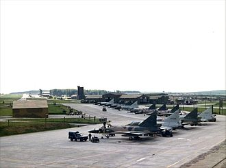 525th Fighter Squadron - F-102As of the 525th FIS at Bitburg, in 1967.