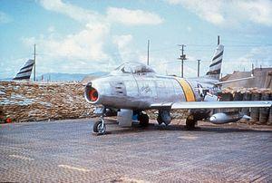 35th Fighter Squadron - A 35th FBS F-86F in Korea, 1953.