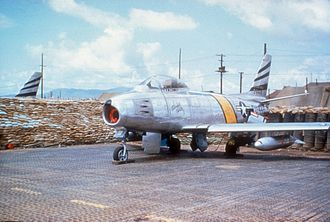 35th Fighter Squadron - A 35th FBS F-86F in Korea, 1953.