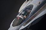 F-A-18C Hornet taxis across the flight deck of the USS Dwight D. Eisenhower (CVN-69).jpg