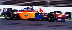 Vincenzo Sospiri - Sospiri driving for MasterCard Lola at the 1997 Australian Grand Prix.