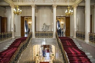 Fabergé Museum in Saint Petersburg, Russia - The museum's main staircase