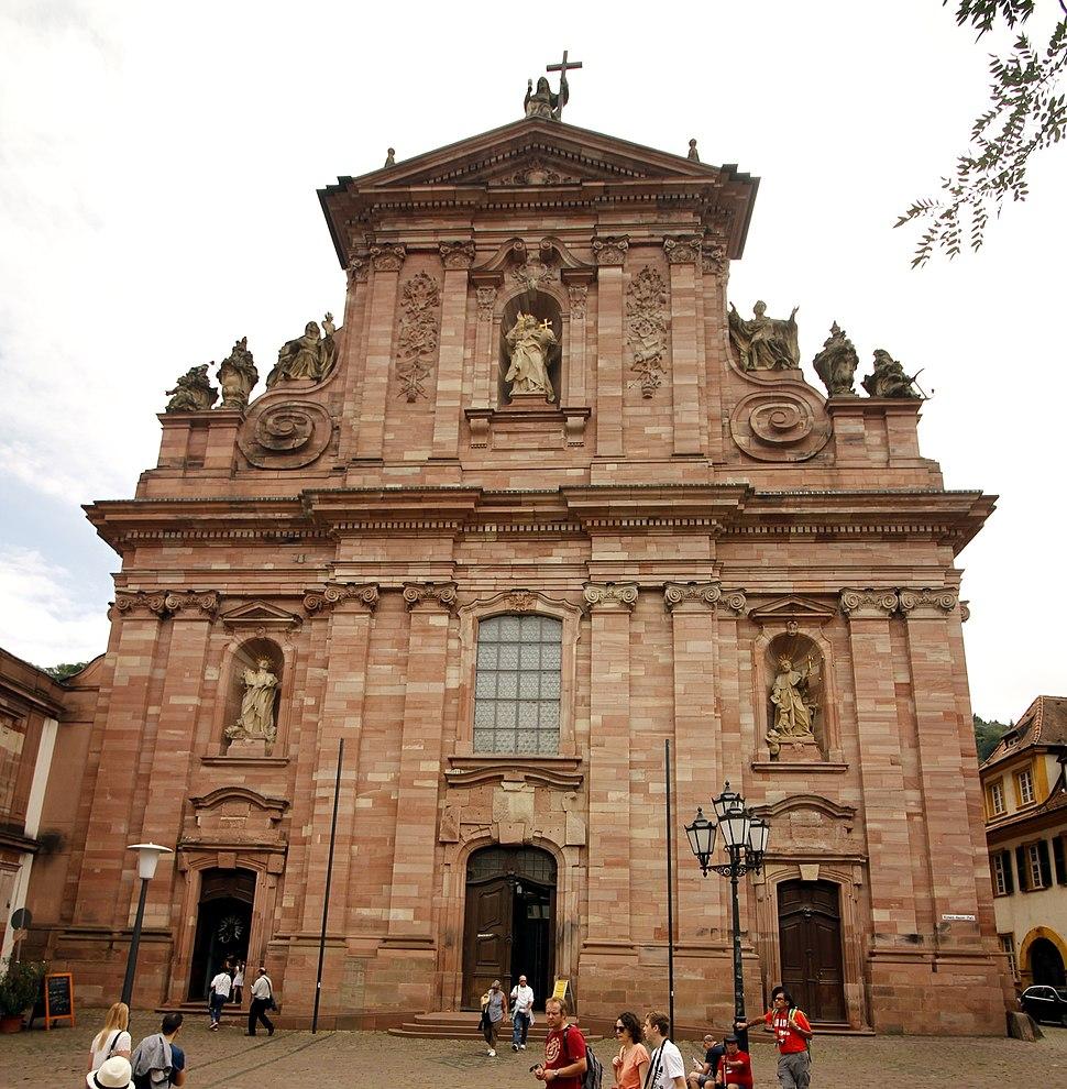 Facade - Jesuitenkirche - Heidelberg - Germany 2017 (crop)