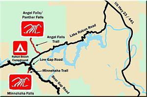 Minnehaha Falls (Georgia) - Location map for Minnehaha Falls
