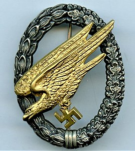 Fallschirmjäger (World War II) paratrooper branch of the German Luftwaffe in the Third Reich