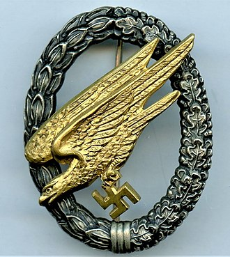 Fallschirmjäger - Paratrooper's badge issued in 1936