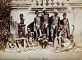Famine in India; a group of emaciated young men wearing loin Wellcome V0029717.jpg