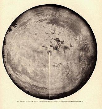 Whole sky camera - Image: Fassig mwr 1915 fig 6