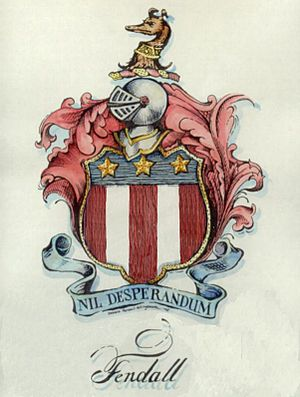 Josias Fendall - Fendall Coat of Arms