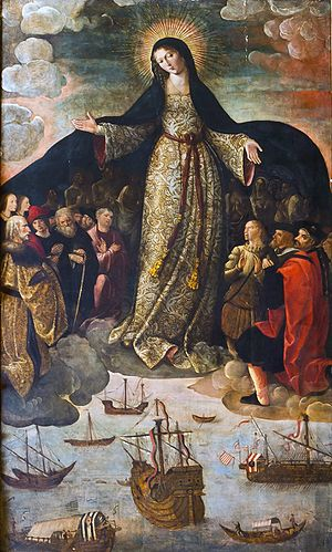 Consecration and entrustment to Mary - Image: Fernandez Virgin of the Navigators (proper inversion)