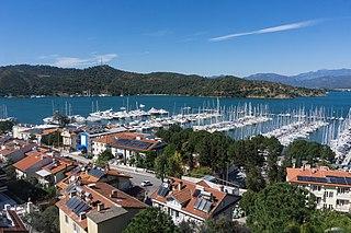 Fethiye District in Mediterranean, Turkey