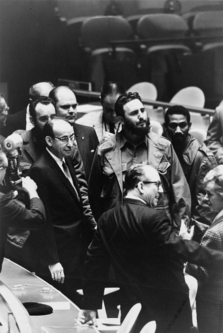 Fidel Castro at the UN General Assembly, 1960 Fidel Castro - UN General Assembly 1960.jpg