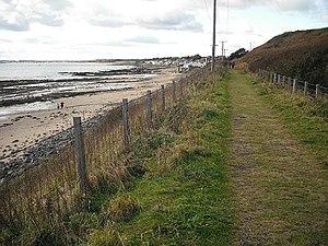 Fife Coast Railway - Dismantled railway near Largo. Now part of the Fife Coast path