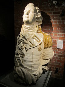 Figurehead from HMS Hastings (1819), Merseyside Maritime Museum.jpg
