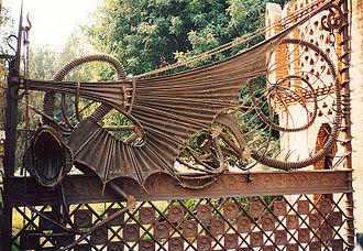Güell Pavilions - The dragon gate at the Güell Pavilions