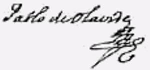 Pablo de Olavide - Image: Firma Pablo de Olavide