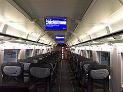 First class on a German ICE train to Munich - Flickr - TeaMeister.jpg