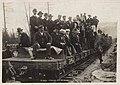 First train to Bennett at Log Cabin, BC, July 6, 1899 (MOHAI 7049).jpg