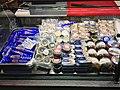 Fiskebryggen, Mathallen, Fishmarket, Bergen, Norway 2018-03-16. Norwegian caviar in tubes, cans, cod liver, anchovies, etc. for sale.jpg