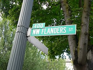 Ned Flanders - Series creator Matt Groening named the character after Flanders Street in his hometown of Portland, Oregon.