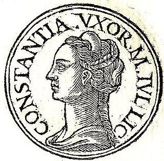 Flavia Julia Constantia Roman empress