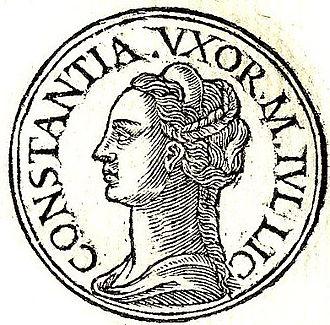 Flavia Julia Constantia - Flavia Julia from Promptuarii Iconum Insigniorum
