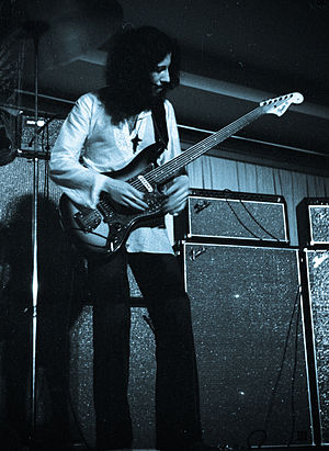 British blues - Peter Green performing with Fleetwood Mac in 1970