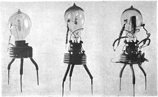 Fleming valve a vacuum tube used as a detector for early radio receivers